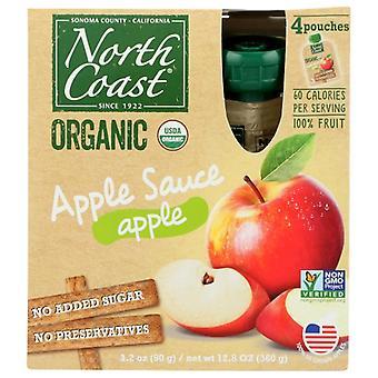 North Coast Applesauce 4Pk Pch Org, sag af 6 X 12,8 Oz