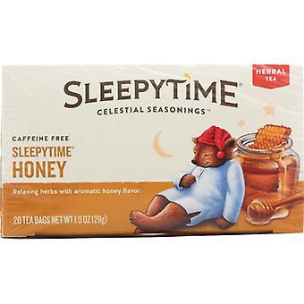 Celestial Seasonings Tea Herb Sleepytime Hney, Case of 6 X 20 Bags