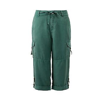 Rockall Tencel Crop Cargo Trousers Navy