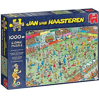 Jan Van Haasteren WC Women's Soccer Jigsaw Puzzle - 1000 Pieces