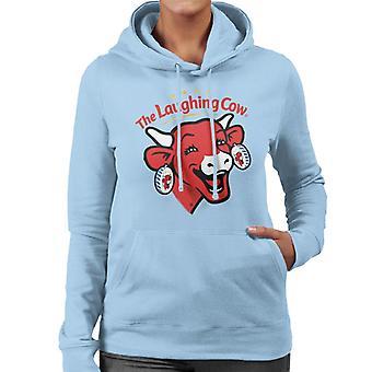 Den grinende Cow Contemporary Logo Kvinders Hætteklædte Sweatshirt
