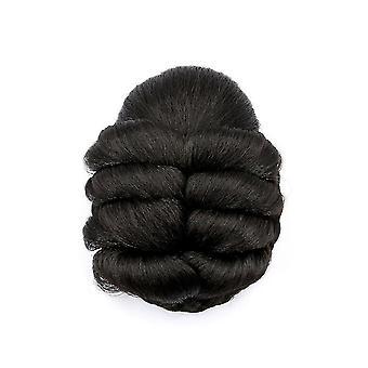 Gevlochten vrouwen haar bun synthetisch haar bun chignon haarstuk