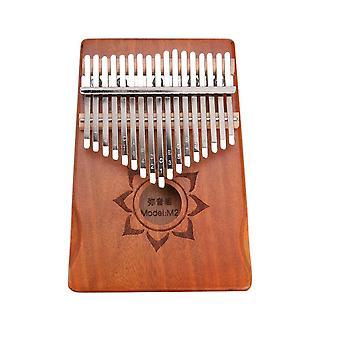 Kalimba thumb piano 17 teclas mogno madeira de dedo instrumento musical de percussão com saco de armazenamento de ferramentas de afinação para presentes
