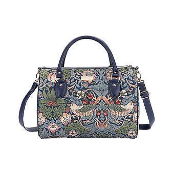 William Morris-morango ladrão saco de viagem azul por negativosão tapeçaria/Trav-Stbl