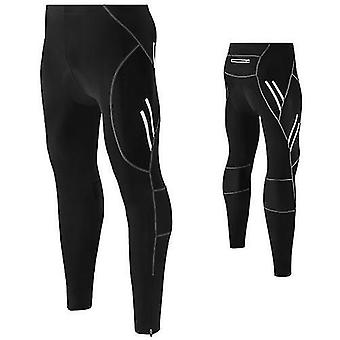 אופניים אופניים גופיות גברים אופניים מכנסיים 4D מרופד ארוך דחיסה גרביונים נושמים מכנסיים לנשימה