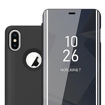 sak for iPhone X / XS sammenleggbar telefonveske - deksel - med stativfunksjon og kortskuff
