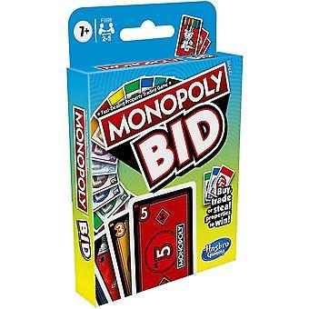 Gioco di carte di gioco Monopoly Bid