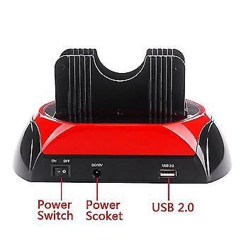 2,5-дюймовый 3,5-дюймовый Ide Sata USB двойной жесткий диск диск док-станция база