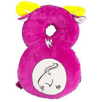Hovedbeskytter til babyjusterbar sikkerhedspuderygsækpude antifaldpudehoved (rosered)