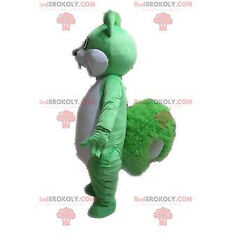 Mascote REDBROKOLY.COM esquilo verde e branco gigante