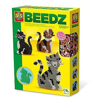 Kit de mosaïque pour chat Beedz Children's Iron-on Beads, 1200 perles en fer