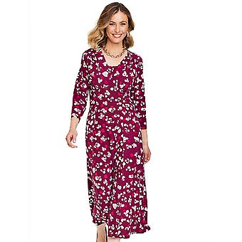 Amber Amber Knitted 3/4 Sleeve Tea Dress