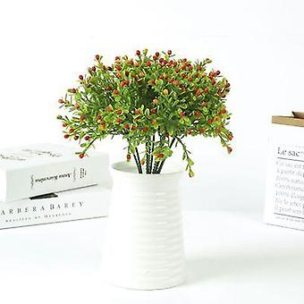 Green plastic grass plant artificial flower babysbreath wedding home christmas decoration party office flower
