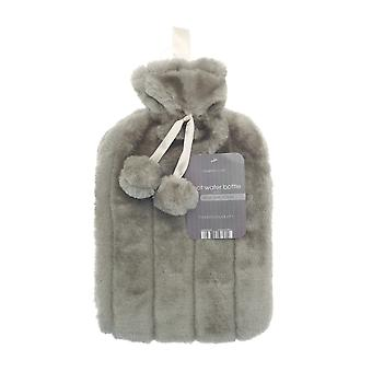 Country Club Faux Fur Hot Water Bottle, Taupe
