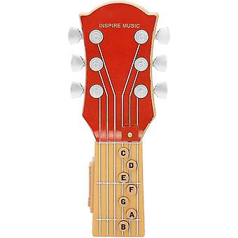 Air Guitar, Infrared Induction Simulation 7-chord Guitar Children's Toy, Portable Guitar Abs Plastic Shell Music Toy (red)