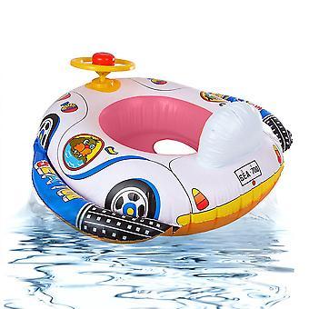 Inflatable Kids Swimming Ring Toys Summer Water Pool Steering Wheel Swim Ring