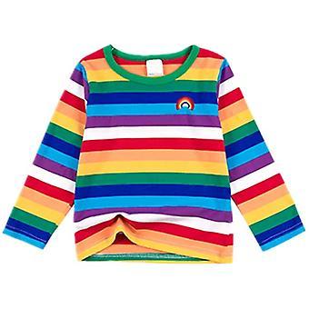 Mimigo Little Boys Rainbow Long Sleeve T-shirt Baby T-shirt O-neck 95% Cotton 5% Spandex Soft Comfortable Top