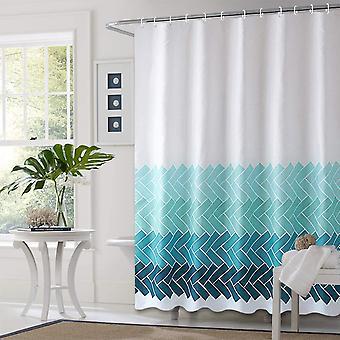 Duschvorhang Quick Dry Polyester Stoff Badevorhänge mit 12 Kunststoffhaken für Badezimmer