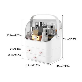 Staubdichte Kosmetische Aufbewahrungsbox Kosmetik Aufbewahrungsbox Lippenstift Parfüm Creme Maske Große Kapazität Schminktisch
