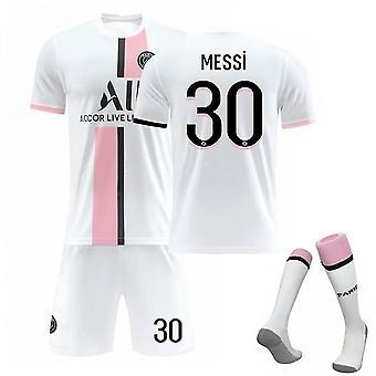 Messi #30 Trikot 2021-2022 Neue Saison Paris Fußball T-Shirts Trikot Set für Kinder Jugend