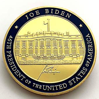 La 46e pièce commémorative plaquée or du président des États-Unis Biden