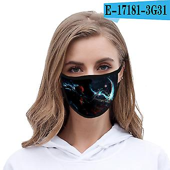 3d Digital Printing Polyester Fabric Men's And Women's Life Halloween Masks (5 Pack)