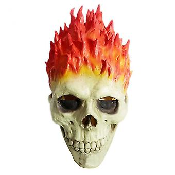 Flame Skeleton Helma / Face Cover Inspired / Ghost Rider Wearable Horror Face Cover pro Halloween