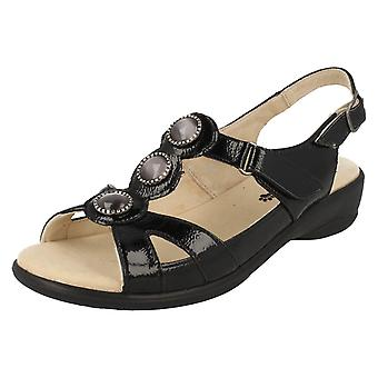 Ladies Padders Wide Fitting Open Back Strap Sandals Precious