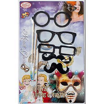 Jokes  Mustaches on sticks / glasses on a stick
