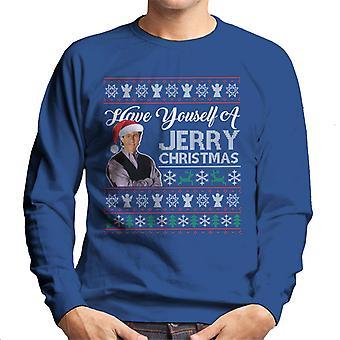 Seinfeld tem do você mesmo um Natal Jerry malha padrão homens moletom