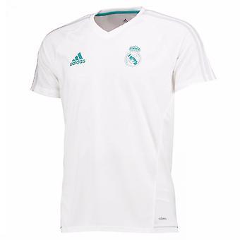 2017-2018 real Madrid Adidas utbildning skjorta (vit)