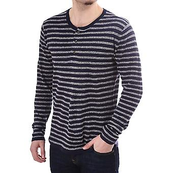 Scotch & Soda Striped Ls Linen & Cotton Jumper
