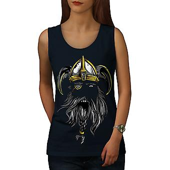 North Warrior Axe Women NavyTank Top | Wellcoda