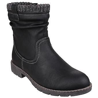 Divaz das mulheres/senhoras Lucca de malha punho tornozelo Boot com zíper