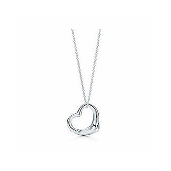 Six Pack Of Womens Ladies Simple Silver Heart Love Pendant Necklace