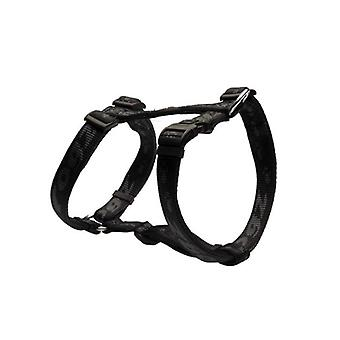 Rogz Alpinist Durable Soft Paw Design Dog H-Harness, Preto
