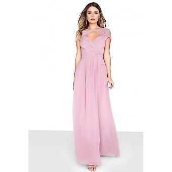 Little Mistress Womens/Ladies Chiffon Wrap Maxi Dress