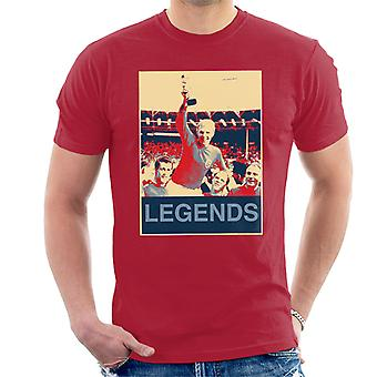 1966 World Cup Final England Bobby Moore Jules Rimet Trophy Men's T-Shirt