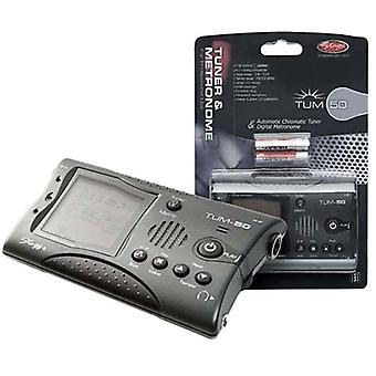 Stagg TUM-50 Tuner and Metronome - Dark Grey