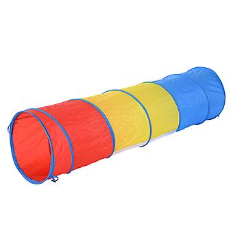 PawHut 3 colore Tunnel Dog Agility Traning Run Colourful del giocattolo esercizio w / Carry Bag