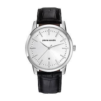 Pierre Cardin mens watch wristwatch ALFORT leather PC901861F01