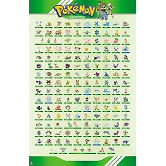 Pokemon - The Beings Grid Poster Print