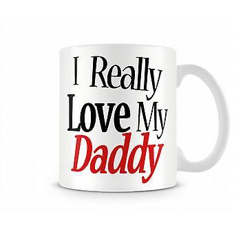 Ik hou echt van mijn papa bedrukte mok