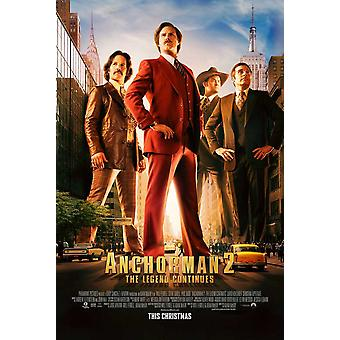 Anchorman 2 The Legend Continues Movie Poster (11 x 17)