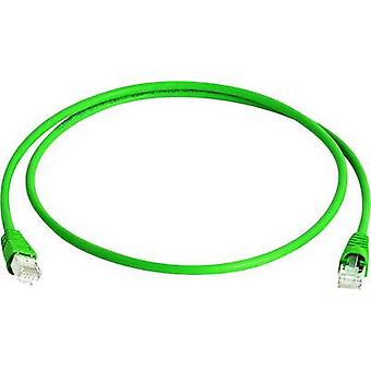 Telegärtner RJ45 L00000A0231 Network cable, patch cable CAT 6A S/FTP 25.00 cm Green Flame-retardant, Halogen-free