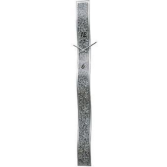 石英挂钟挂钟石英银色设计-人造皮革应用