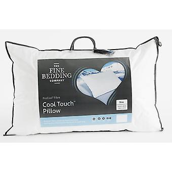 The Fine Bedding Company Cool Touch Pillow Soft Medium Support Non-Allergenic