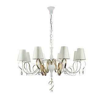 Maytoni Lighting Intreccio Elegant Chandelier, White