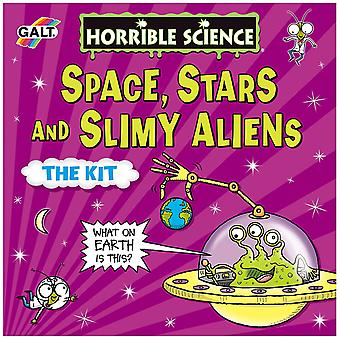 Borzalmas tudomány tér, csillagok és nyálkás idegenek