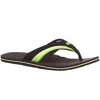 Hayvan Mens Jekyl Slim Summer Beach Tatil Thongs Sandalet Flip Flop - Siyah
